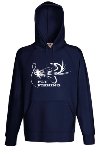 Kaputzen Sweatshirt, Fly Fishing - Motiv Köder