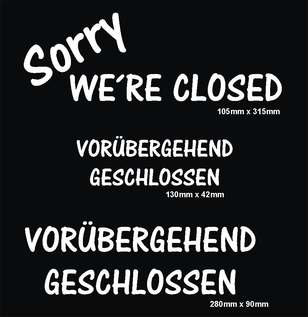 Vorübergehend geschlossen